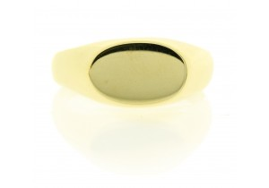 Mens Oval Signet Ring