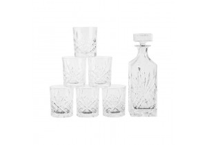 7 Piece Crystal Whiskey Set