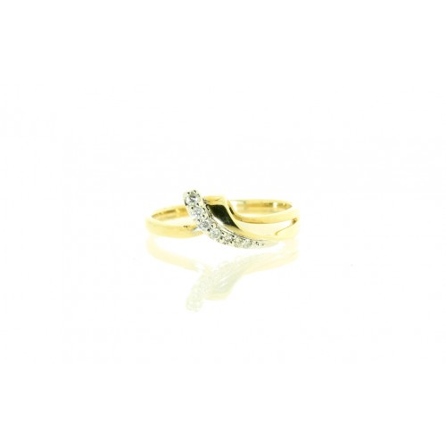 9ct Yellow Gold 0.09ct Diamond Set Dress Ring