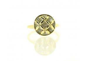 9ct Yellow Gold Diamond Set Dress Ring