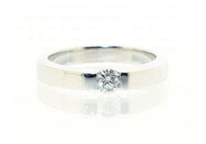 18ct White Gold Tension Set Diamond Ring