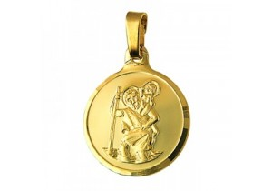9ct Gold 16mm St Christopher Pendant