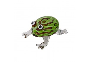 Coloured Glass Frog Figurine