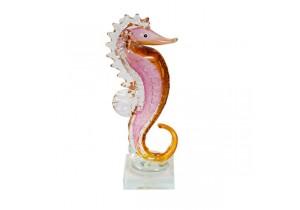 Coloured Glass Seahorse Figurine