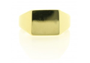 Mens Rectangle Signet Ring