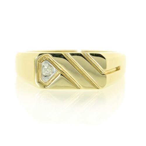 Mens Diamond Set Dress Ring