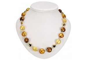 Antica Murrina Gold Amber Frida Murano Necklace