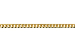 Bevelled Diamond Cut Curb Bracelet 80