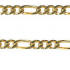 Diamond Cut 3+1 Figaro Padlock Bracelet 103