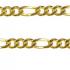 Diamond Cut 3+1 Figaro Padlock Bracelet 123
