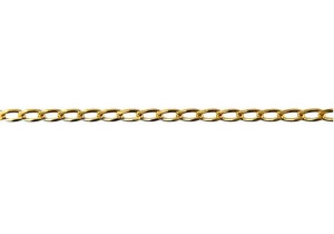 Bevelled Long Link Chain 60 in 9ct Yellow Gold
