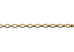 Oval Belcher Chain BO1 in 9ct Yellow Gold
