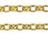 Oval Belcher Shield Padlock Bracelet 2