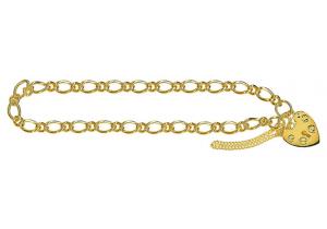 Oval Figaro 1+1 Padlock Bracelet 101