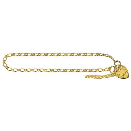 Oval Figaro 1+1 Padlock Bracelet 61