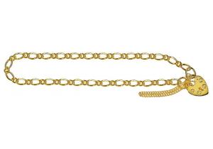Oval Figaro 1+1 Padlock Bracelet 81
