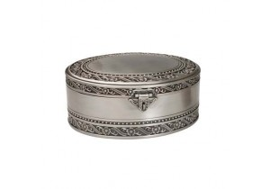 "9"" Jewellery Box with Pewter Finish"