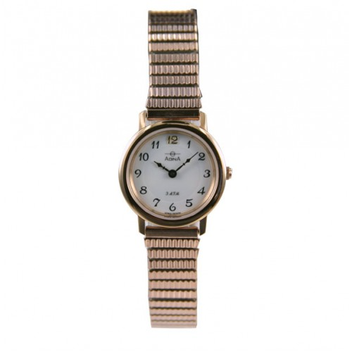 Adina Rose Gold Plate Ladies Watch Nk40 R1fe