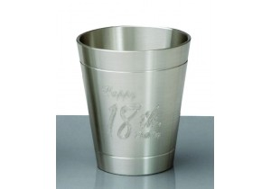 Pewter Engraved 18th Shot Glass