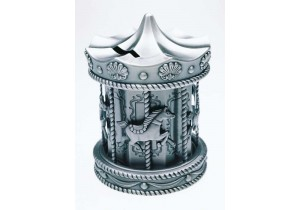 Pewter Carousel Money Box