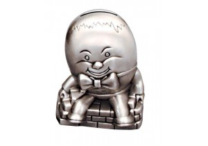 Pewter Humpty Dumpty Money Box