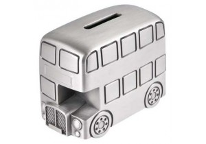 Pewter London Bus Money Box