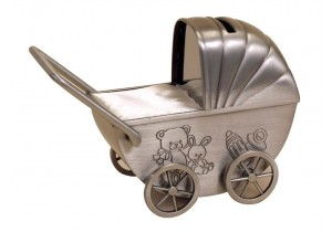 Pewter Pram Money Box