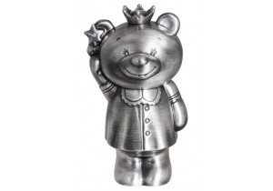 Pewter Princess Bear Money Box