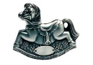 Pewter Rocking Horse Money Box