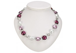 Antica Murrina Pink Amethyst Frida Murano Necklace