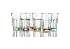 Set of 6 Prism Coloured HiBall Glasses