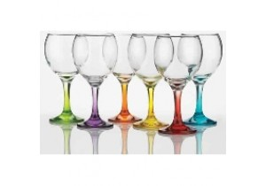 Set of 6 Prism Coloured Wine Glasses
