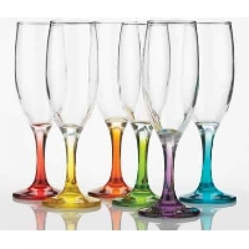 Set of 6 Prism Coloured Flutes
