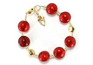 Antica Murrina Red Gold Frida Murano Bracelet