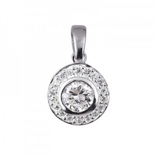 Sterling Silver and Cubic Zirconia Pendant