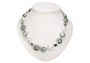 Antica Murrina Silver Grey Frida Murano Necklace