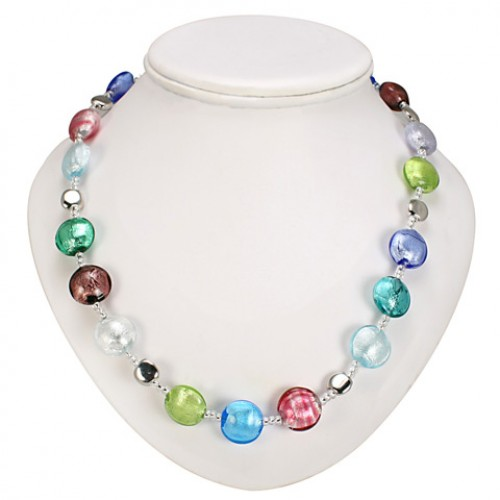 Antica Murrina Silver Multicoloured Frida Murano Necklace