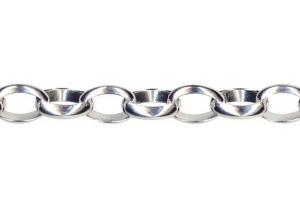 Sterling Silver Oval Belcher BO4 Bracelet