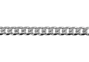 Heavy Diamond Cut Curb Chain 50cm 150