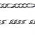 Sterling Silver Diamond Cut Figaro Padlock Bracelet
