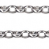 Sterling Silver Round Filagree Padlock Bracelet