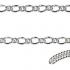 Sterling Silver Figaro Padlock Bracelet