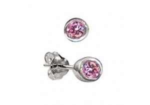 Sterling Silver Birthstone Studs- 12 Colours