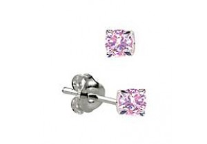 Sterling Silver Birthstone Claw Studs - 12 Colours