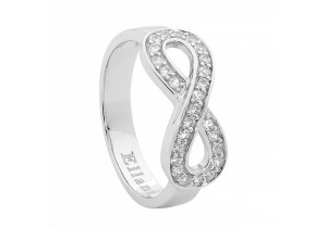 Ellani Collections Cubic Zirconia Set Infinity Ring