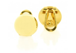 Clip On Small Domed Earrings