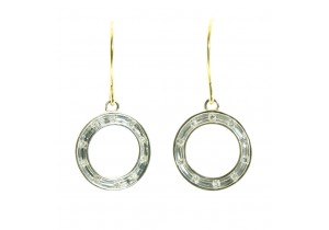 Diamond Set Circle Earrings