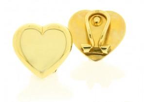 Clip On Heart Earrings