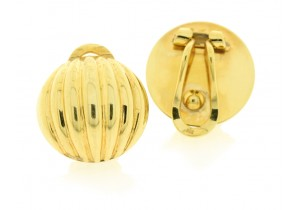 Clip On Fancy Domed Earrings