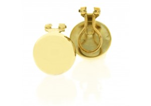 Clip On Domed Earrings